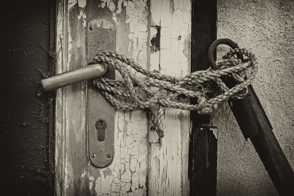 Closed, Completed, Door, Rope, Input, Old, Castle