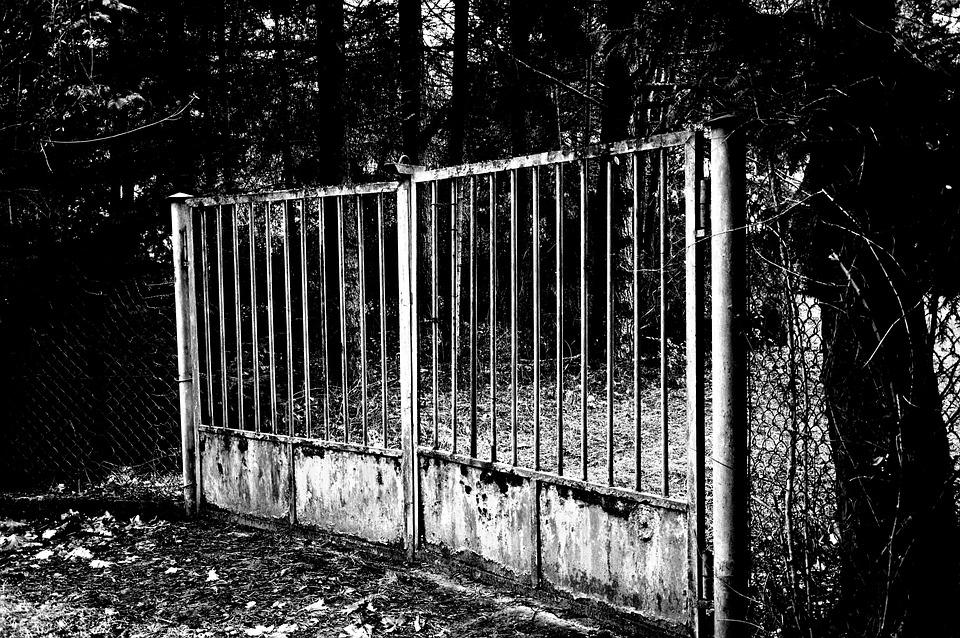 Gateway, Old, Rust, Entrance, Cordon Off, Closed