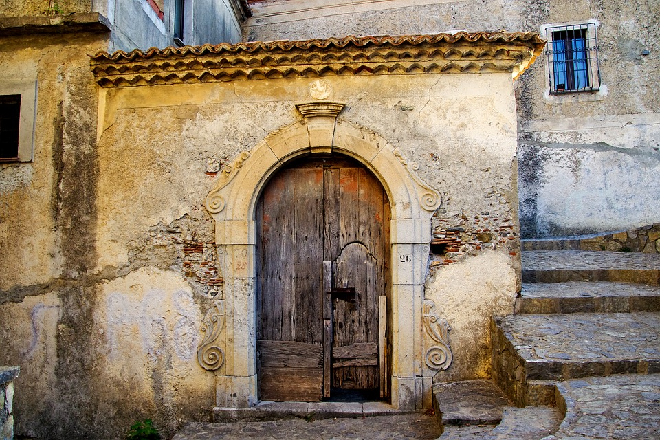 Door, Time, Closed, End, Old, Casa Antica, Wall, Scalea