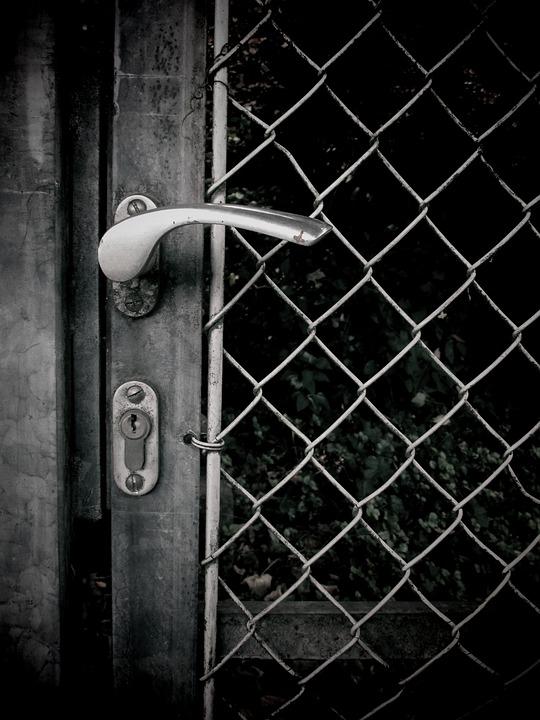 Door, Door Lock, Door Handle, Closed, Grid