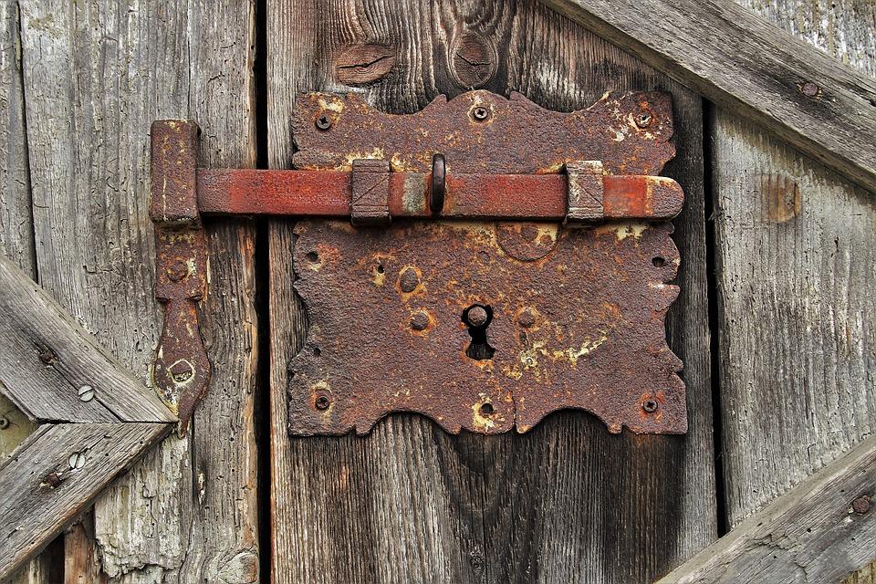 Rust, Bar, The Door, Closed, Iron, Gateway, Entrance