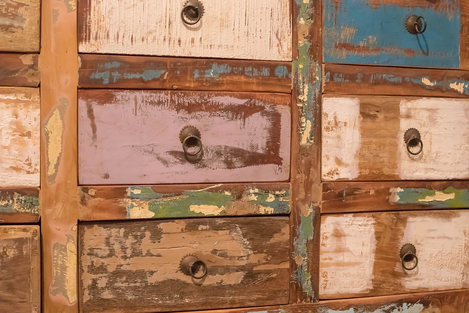 Closet, Antique, Chest Of Drawers, Load, Colors, Old