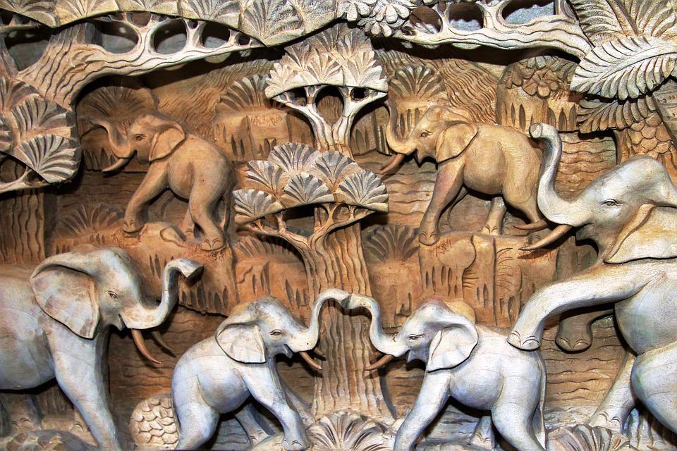 Nature, The Art Of, Closeup, Animals, Elephants, Model