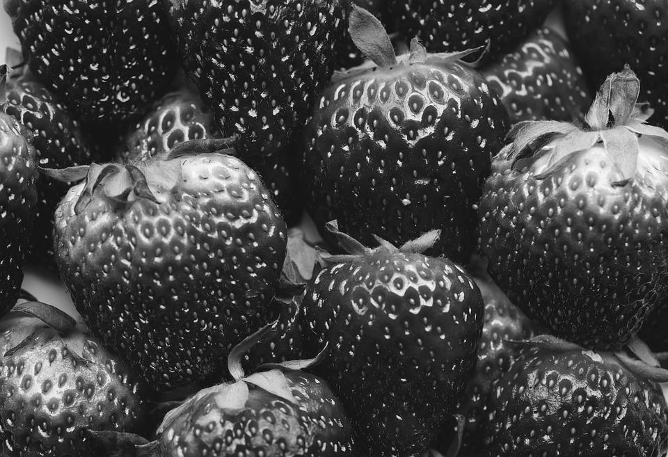 Background, Berry, Black And White, Closeup, Delicious