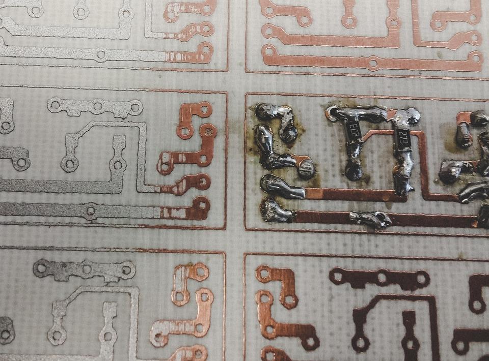 Soldering, Pcb, Electronics, Closeup, Circuit, Current