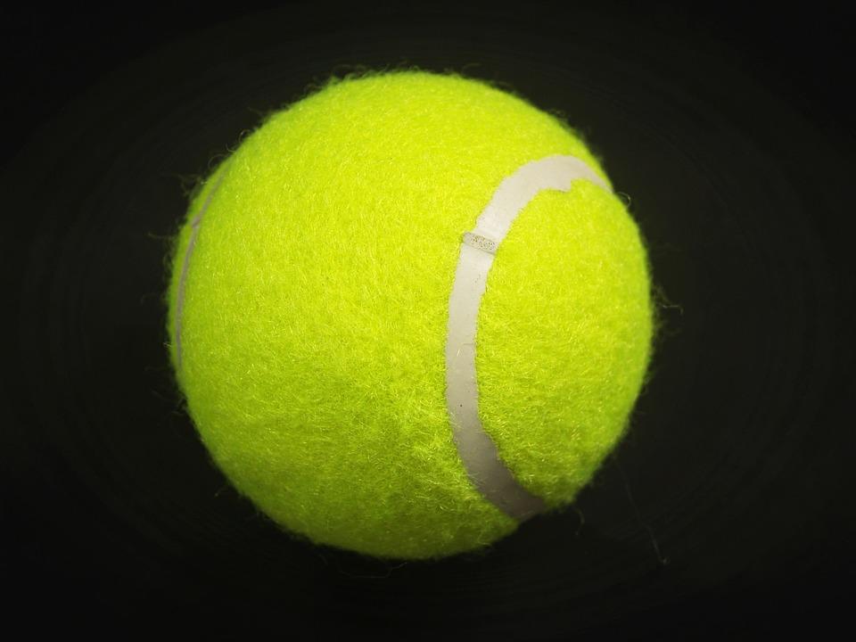 Ball, Racket, White, Yellow, Background, Closeup