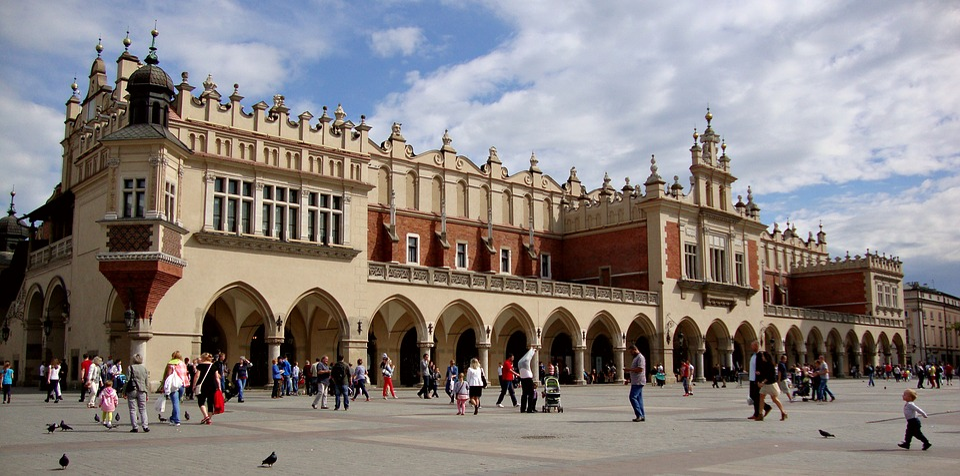 Kraków, Poland, Cloth Hall Sukiennice, Architecture