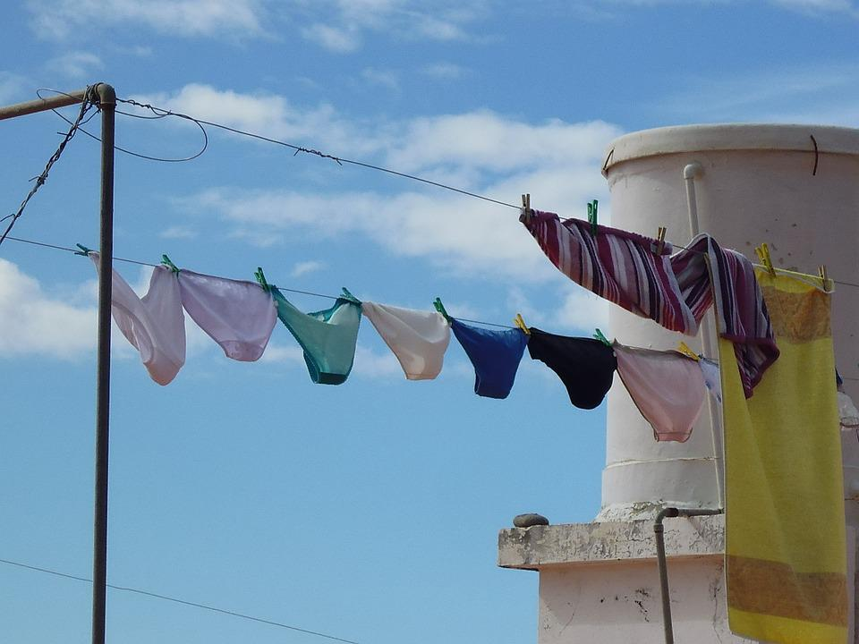 Underwear, Clothes Line, Laundry, Dry, Color