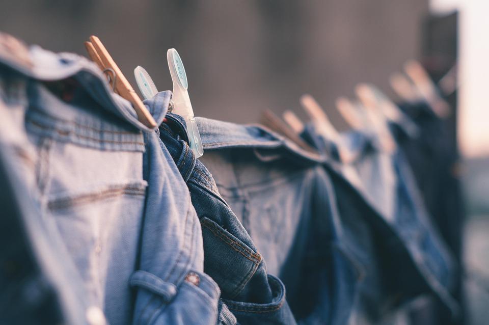 Blur, City, Clothes Line, Clothes Pin, Denim