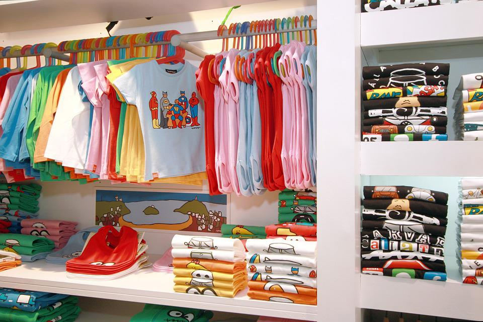 Fashion, Clothes Shop, Child, Trade, T-shirt, Pants
