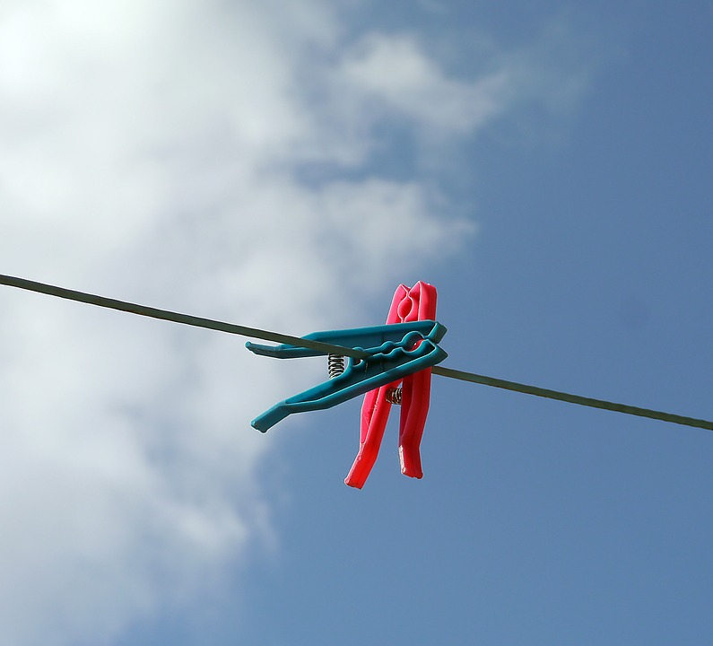 Clothesline, Laundry, Clothespins, Clothes, Line, Sky