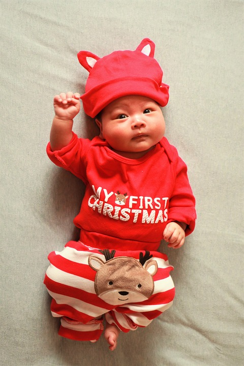 Baby, The Full Moon, Christmas, Clothing, Cute