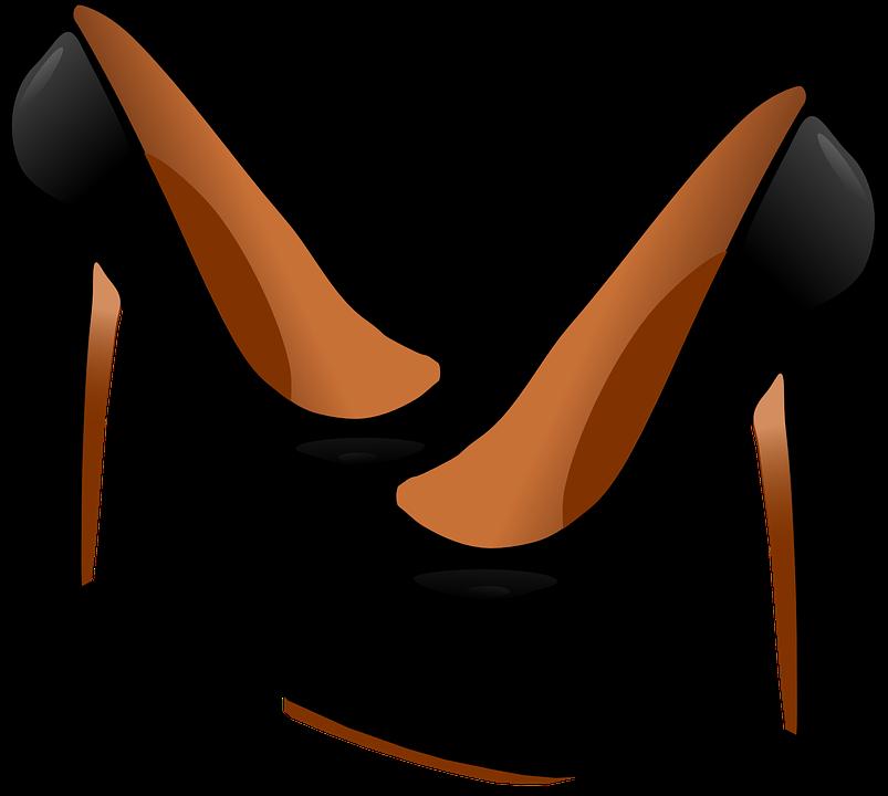 Heels, Shoes, Black, Fashion, Clothing, Women, Stiletto