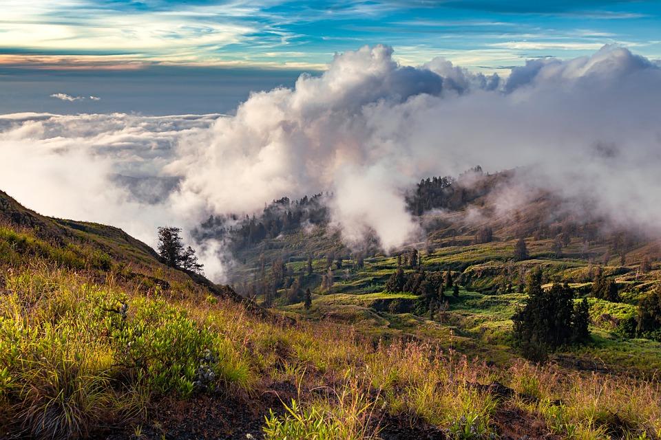 Landscape, Mountain, Cloud, At Dusk, Mountainside