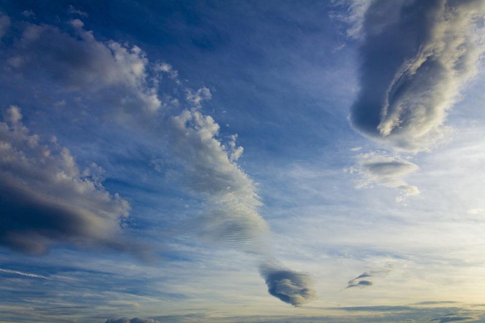 Sky, Cloud, Blue, Evening