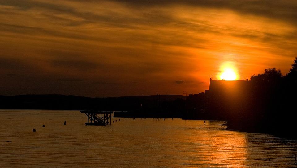 Sunset, Evening, Sun, Warm, Evening Sky, Cloud, Lake