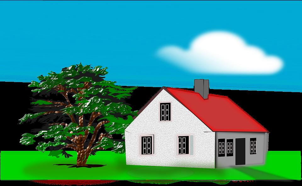 House, Home, Residence, Tree, Cloud