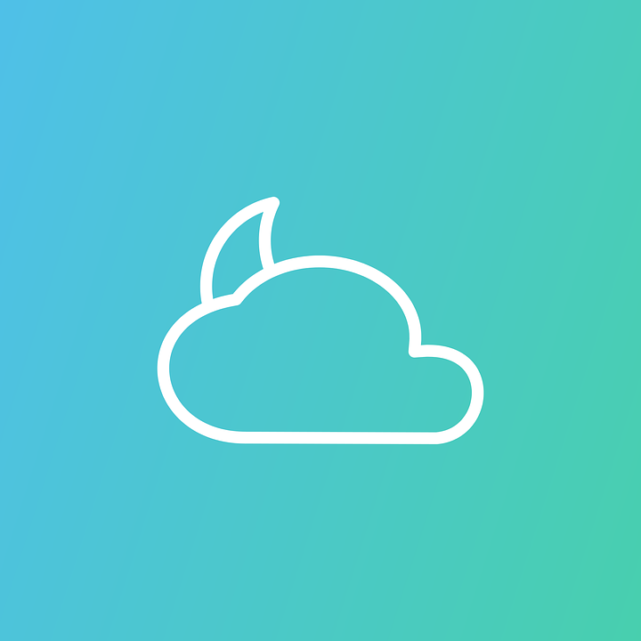 Cloud, Moon, Icon, Weather, Climate, Meteorology