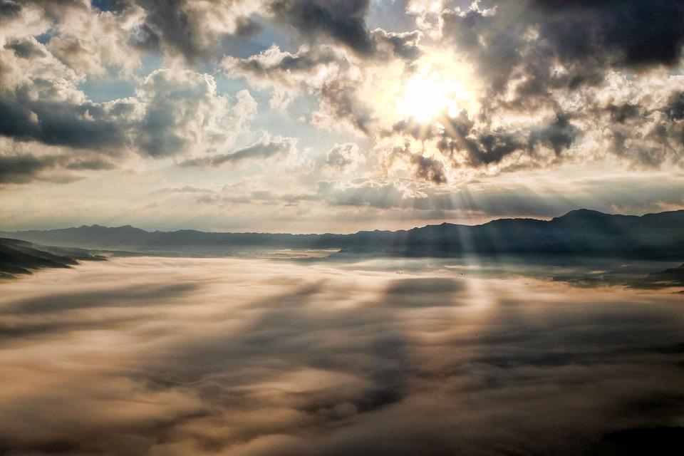 Kumamoto, Japan, Aso, Cloud, Somma, Sea Of Clouds