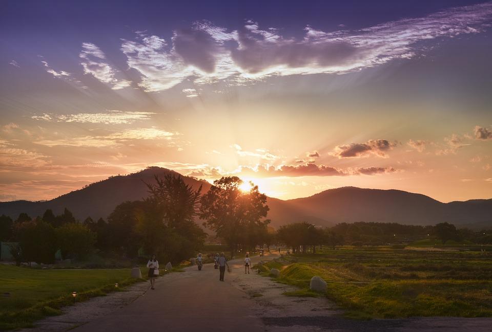 Sunset, Landscape, Nature, Sky, Cloud, In The Evening