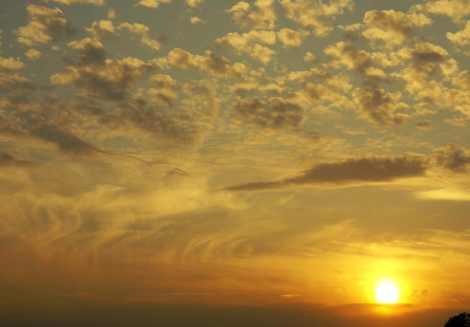 Sky, Clouds, The Sun, Sunset, Cloud, Cloud Medium