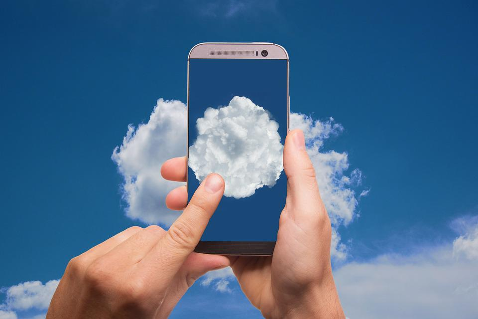 Cloud, Finger, Smartphone, Phone, Typing, Mobile Phone