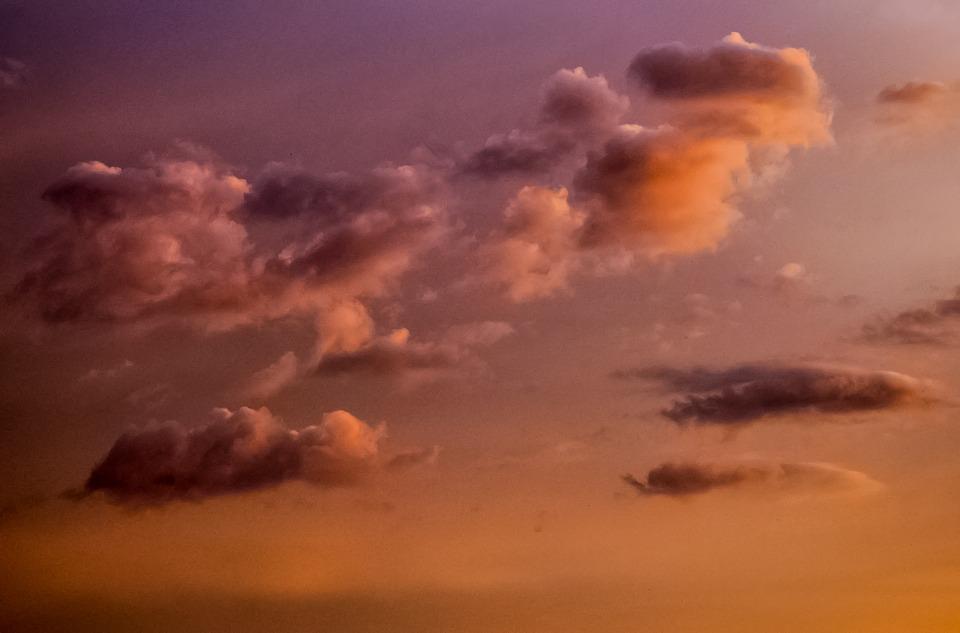 Cloudscape, Sky, Purple, Orange, Cloud, Nature, Summer