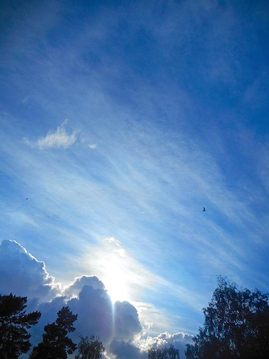 Cloud, Revelation, Sunset, Blue Sky, Summer