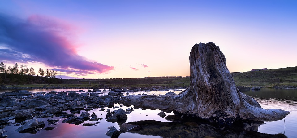 Sunset, Stakes, Aershan, Wallpaper, River, Cloud