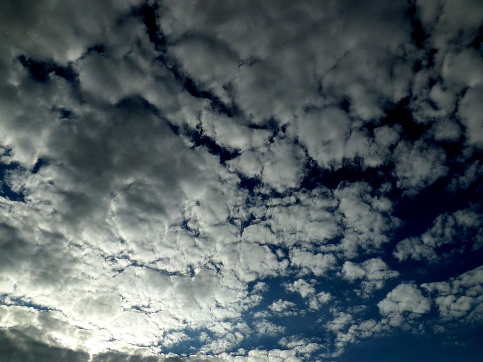 Cloud, Sky, Fluffy, White, Blue