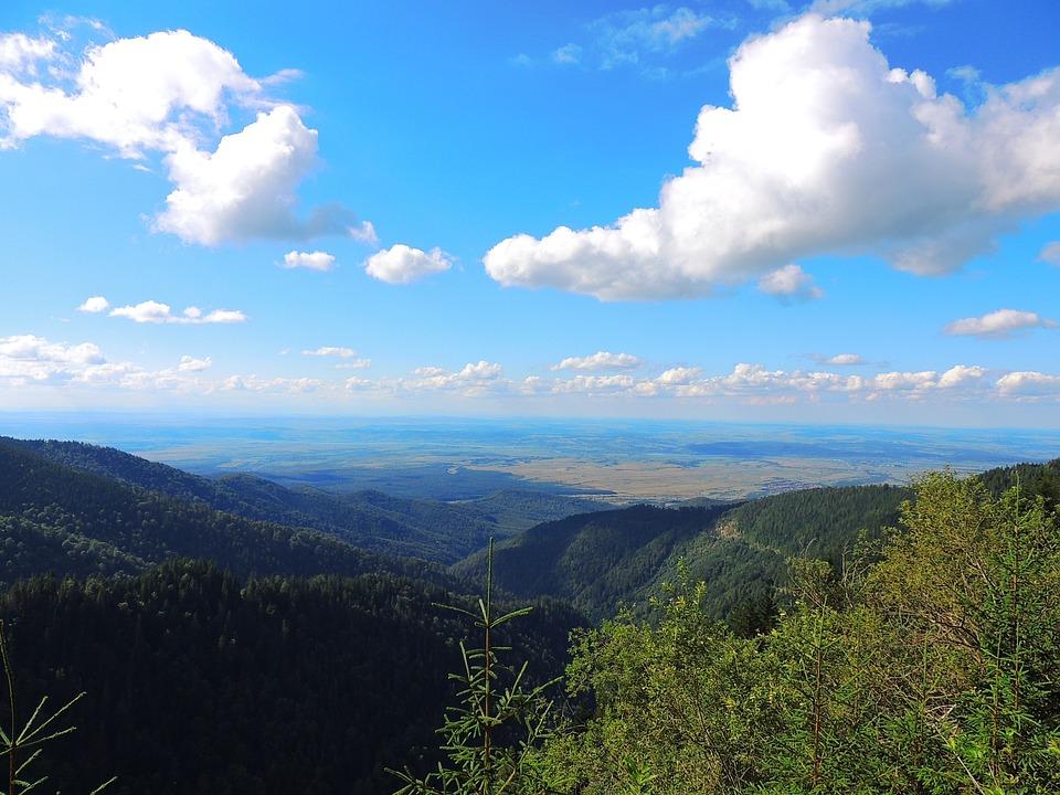Valley, Romania, Landscape, Sky, Cloud, Mountain, Blue