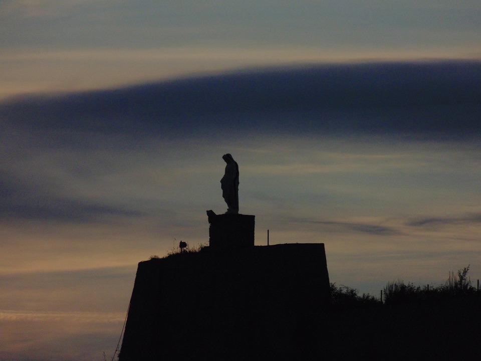 Statue, Profile, Sunset, Cloud, Sky, Clouds, Horizon