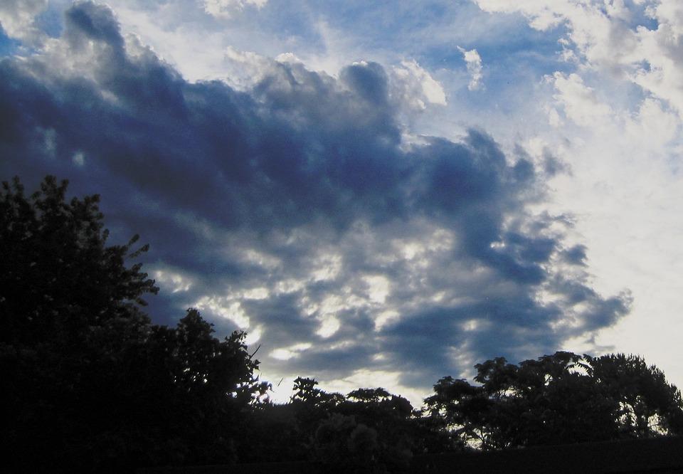 Cloud Spread, Sun Shining Through, Dark Shadow