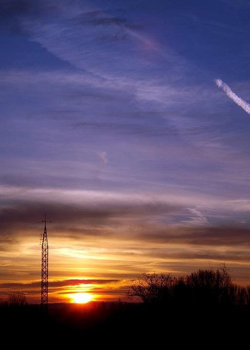 Sunset, Sun, Cloud, Sky, In The Evening, Orange
