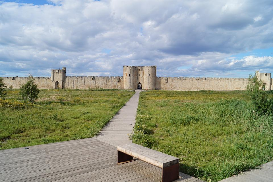 Fortress, City Wall, Historically, Old, Clouded Sky