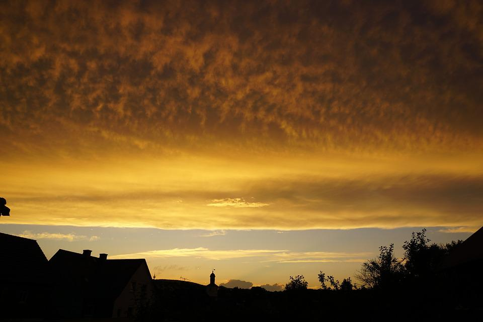 Clouds, Abendstimmung, Evening Sky