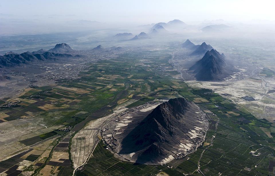 Afghanistan, Landscape, Aerial View, Sky, Clouds, Fog