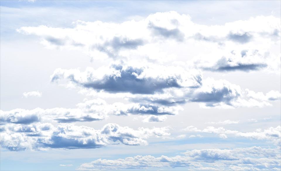 Sky, Clouds, Cumulus, Panorama, Air