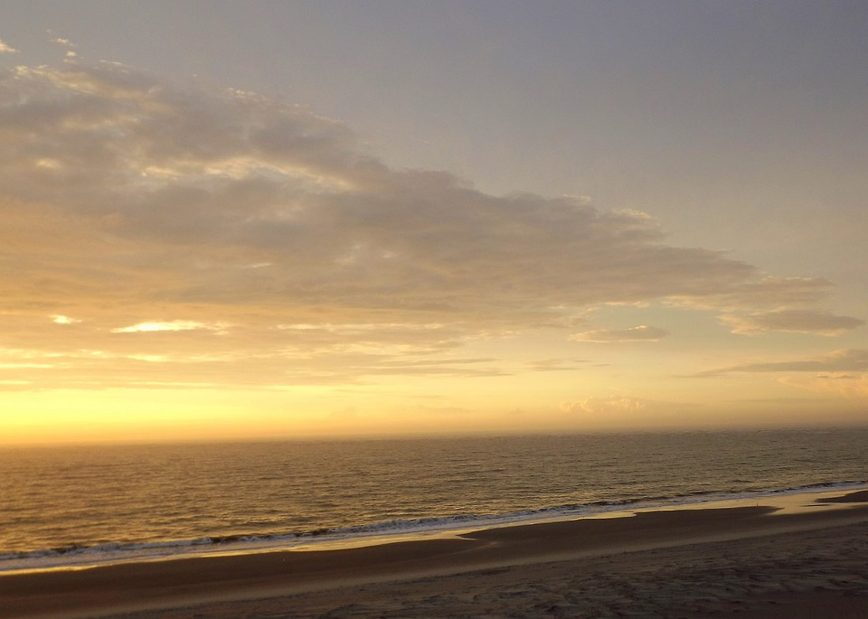 Beach, Sunrise, Sunset, Clouds, Sky, Charleston, Winter