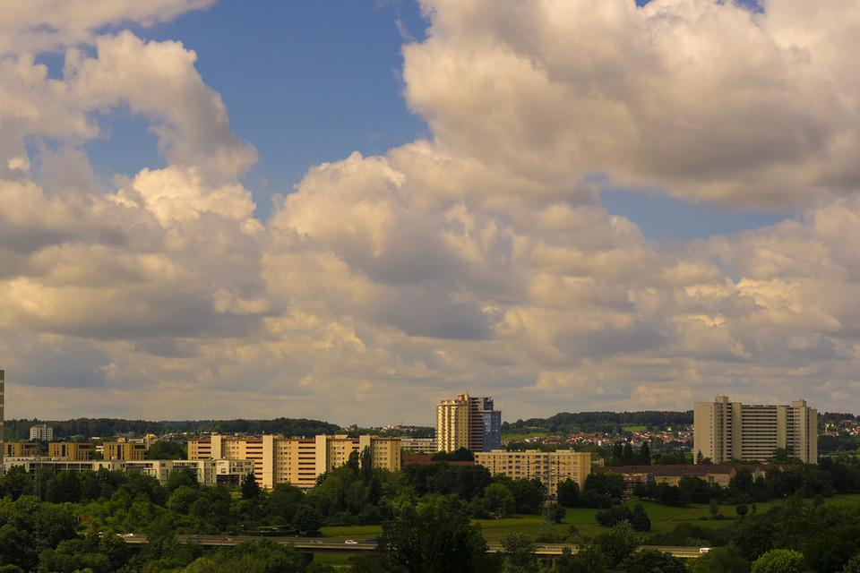 Stuttgart, Building, Sky, Clouds, Blocks Of Flats, City
