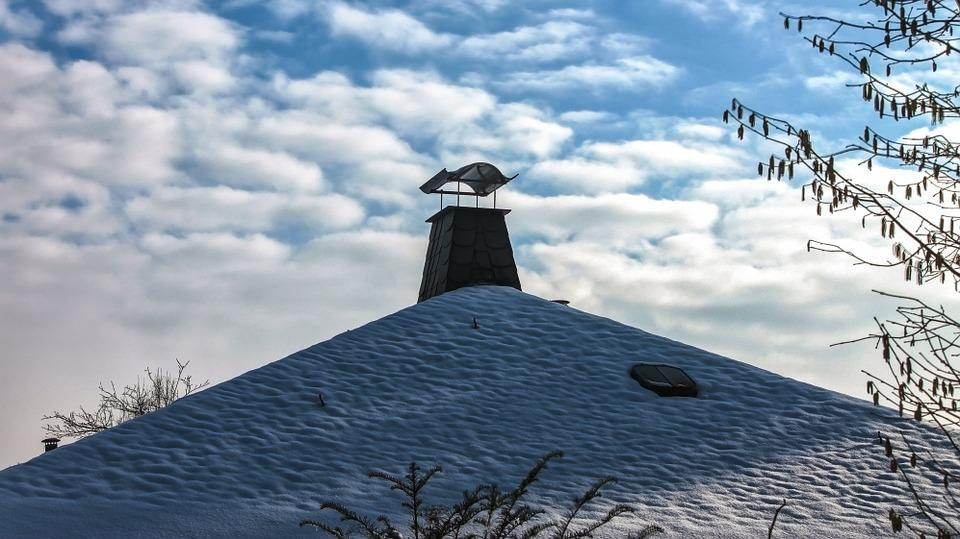 Clouds, Fireplaces, Chimney, Roofing, Building, Sky