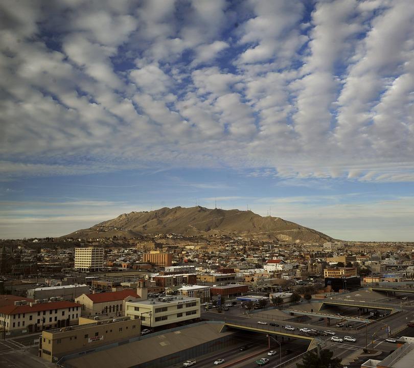 El Paso, Texas, Sky, Clouds, City, Cities, Urban