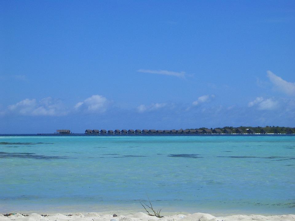 Resort, Paradise, Blue Sea, Clouds, Clear Skies