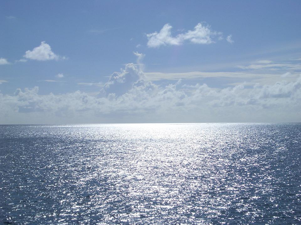 Blue Sea, Clouds, Clear Skies, Southern Country
