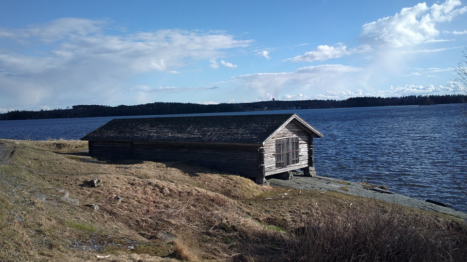Beach, Clouds, Cloud, Finnish, Cottage, House, Sand