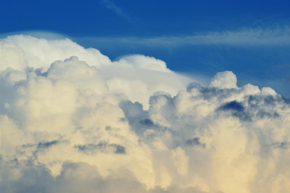 Clouds, Sky, Cumulus Clouds, Blue, Clouded Sky