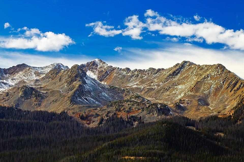 Rocky Mountains, Colorado, Sky, Clouds, Landscape