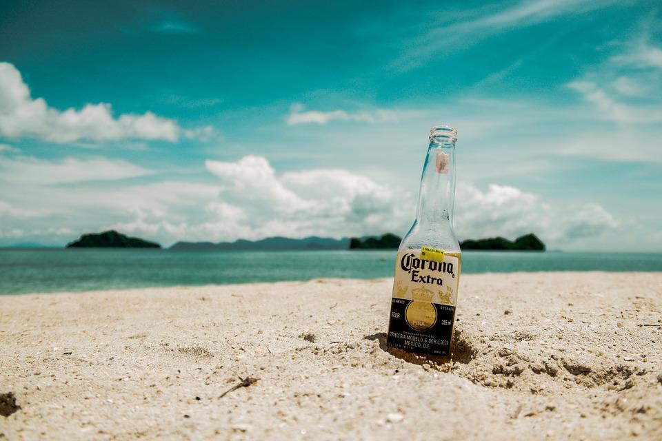Beach, Beer, Blur, Bottle, Close-up, Clouds, Daylight