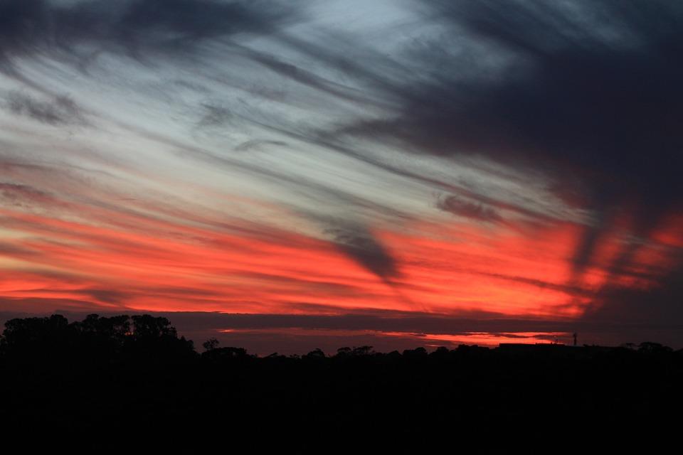 Sunset, Sky, Eventide, Clouds, Landscape, Nature