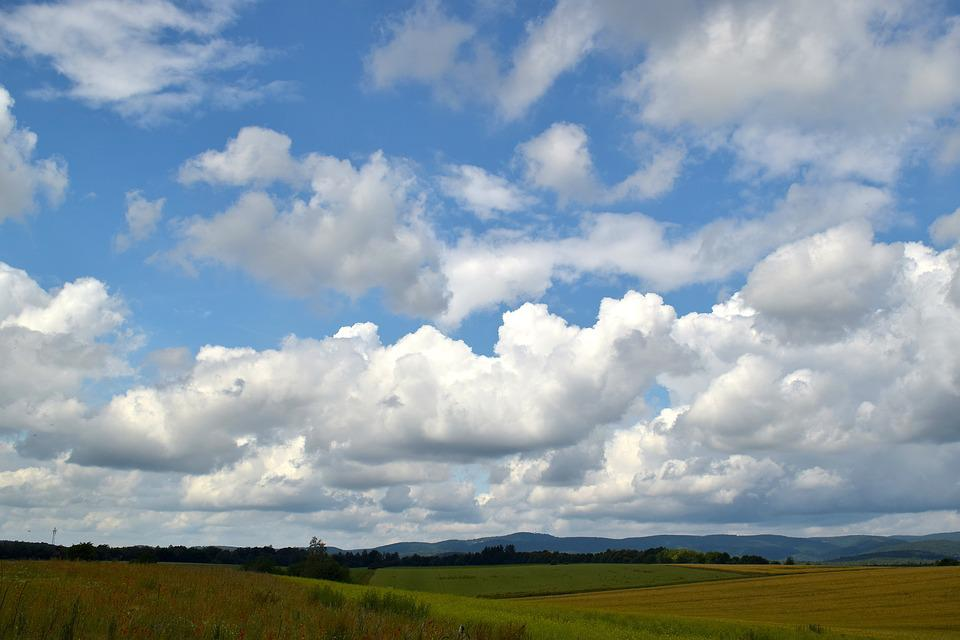 Sky, Clouds, Field, Clouds Form, Mood